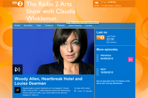 I talk to Claudia Winkleman about Woody Allen
