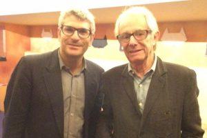 Jason Solomons with director Ken Loach