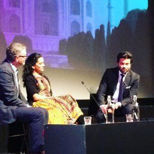 Robin Baker, Anoushka Shankar and Anil Kapoor at BFI Southbank