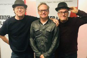 Robert Elms, Jon S Baird and myself - Stan & Ollie